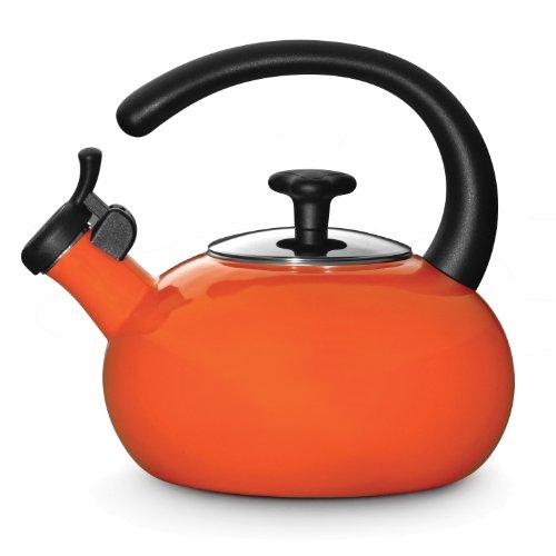Rachael Ray Teakettles 1-12-Quart Whistling Orange