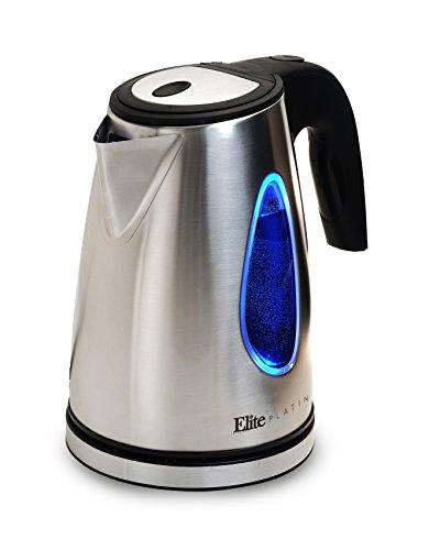 Elite Platinum EKT-1271 17-Liter Cordless Electric Water Tea Kettle Stainless Steel BPA Free