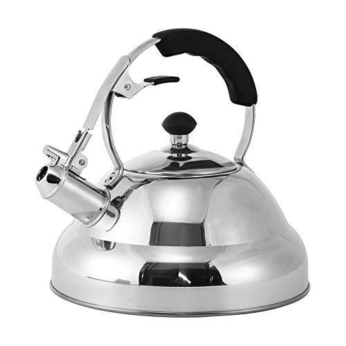 Tea Kettle - Stainless Steel Stovetop Whistling Tea Kettle 3-Liter