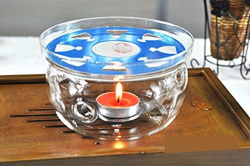 Suns Tea Tm Ultra Clear Borosilicate Glass Teapot Warmer Clear
