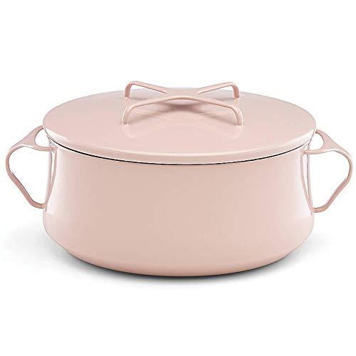 Dansk Kobenstyle Enameled Steel 4 Quart Casserole Pot with Lid Pink