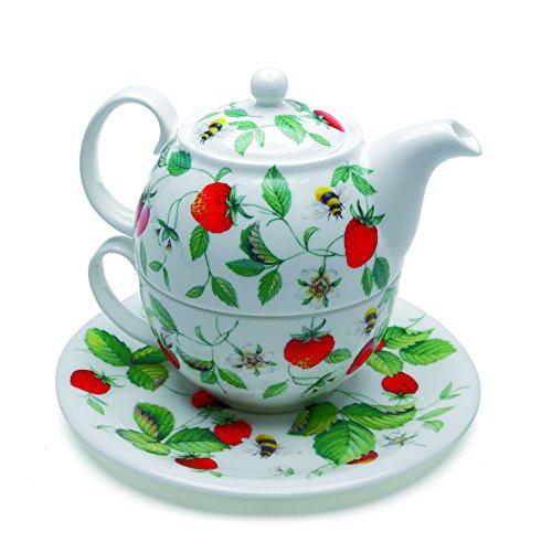 Roy Kirkham Alpine Strawberry Tea For One Stacker Teapot Set
