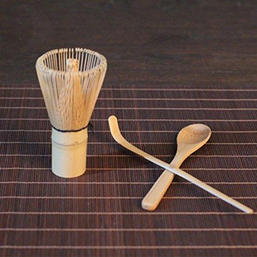 Uspeedy Bamboo Tea Set Tea Whisk Hooked Bamboo Scoop Tea Spoon for Matcha Preparing 1 Bamboo Tea Set