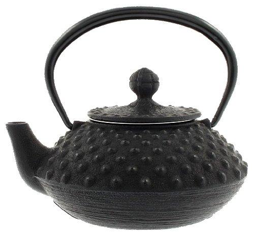 Iwachu Japanese Iron Tetsubin Teapot Small Black Hailstone Pattern
