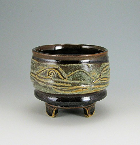 Matcha Tea Bowl serving bowl hand-thrown stoneware bowl 16