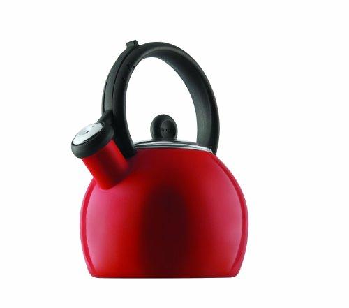 Copco Vienna 1-12-Quart Enamel on Steel Tea Kettle Red