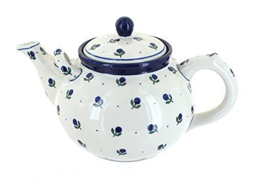 Polish Pottery Blueberry Large Teapot