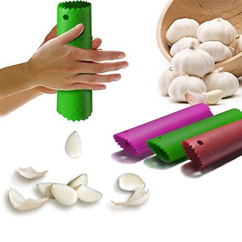 Happy Sales Silicone Garlic Peeler Peeling Press Tube Tool Random Color