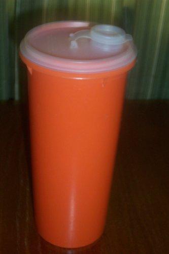 Vintage Tupperware Orange Slimline Pitcher with Flip Top Seal