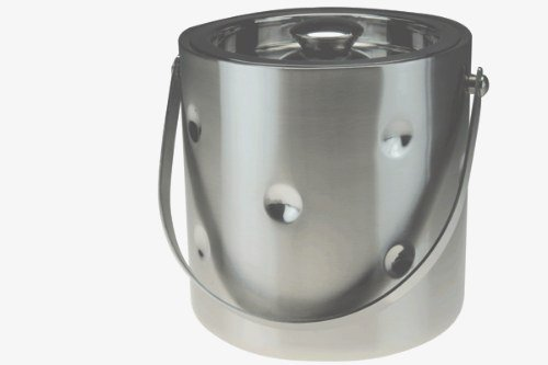 Kosma Ice Bucket Double Wall with Ice Tong Stainless Steel  Ice Bucket with Matte Finish Dimple Effect - 15 Litre