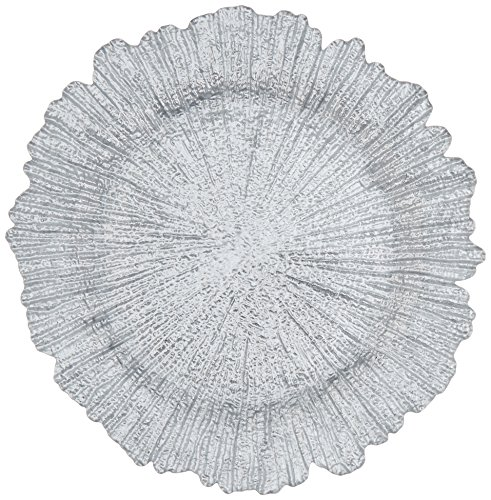 ChargeIt by Jay Reef Charger Plate Silver Diameter 135 Inch