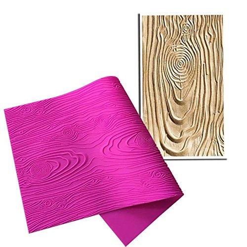ART Kitchenware Woodgrain Fondant Impression Mat Silicone Cake Lace Mold Color Pink BLM-23