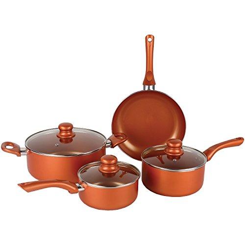 Brentwood BPS-107C 7-Piece Non-Stick Copper Cookware Set