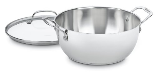 Cuisinart 755-26GD Chefs Classic Stainless 5-12-Quart Multi-Purpose Pot with Glass Cover
