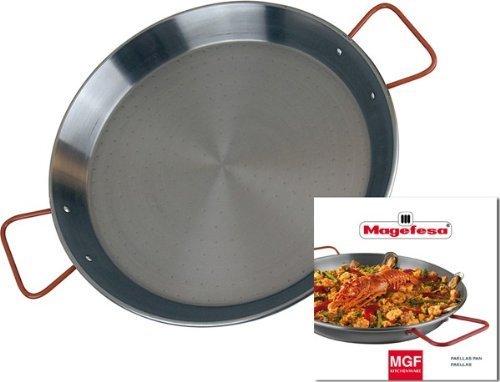 MageFesa Carbon Steel Paella Pan 17 Inch by Magefesa
