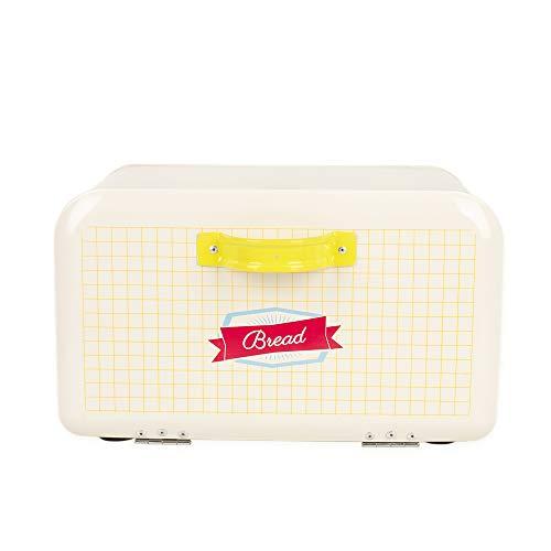 Hot Sale X742 rectangle Metal Cream white Bread BoxBinkitchen Storage Containers