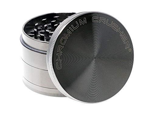 Chromium Crusher Zinc 4 Piece Gunmetal - Herb Spice MillGrinder 25