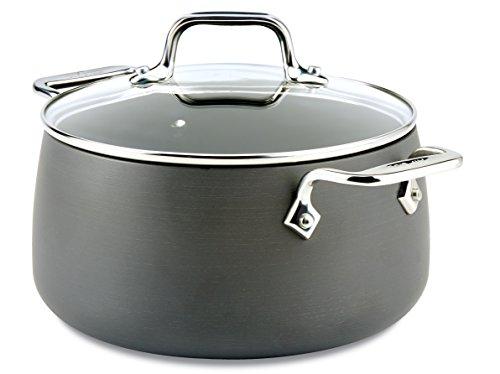 All-Clad E7854464 HA1 Hard Anodized Nonstick Dishwasher Safe PFOA Free Soup Pot  Stock Pot Cookware 4-Quart Black
