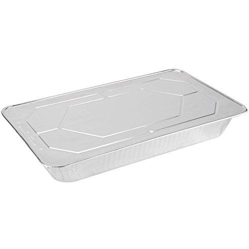 full size Aluminum Oblong Foil Deep Pan Containers with Foil Lids Aluminum Foil Pans with Lids 21 x 13 x 25 Size Pack of 5