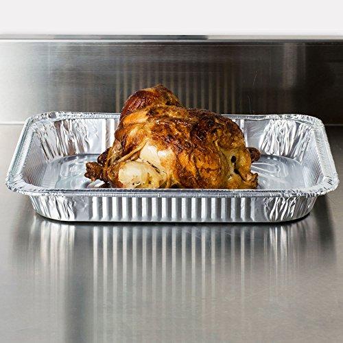 Disposable aluminum foil pan half size SHALLOW Deapth set of 30