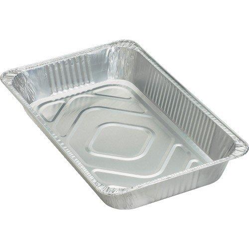 Genuine Joe Disposable Aluminum Pan Full-Size 280 oz Cap 50Ct Sr Large Silver