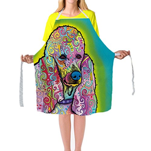 CafeTime Poodle Aprons Cute Pet Dogs Print Kitchen Cooking Apron Customize Chef Aprons Sleeveless Big Size Bib Aprons