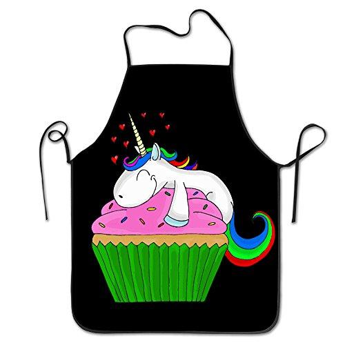 Unicorn Cupcake Chef Kitchen Cooking And Baking Bib Apron