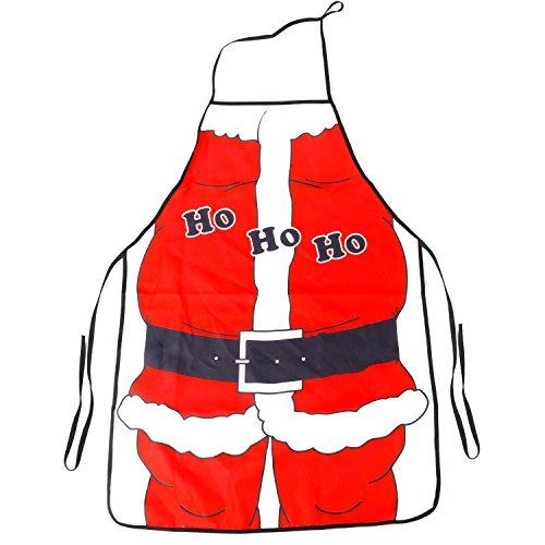 Father Christmas Ho Ho Ho Novelty Apron Santa Suit Design Stocking Filler Fancy Dress TRIXES