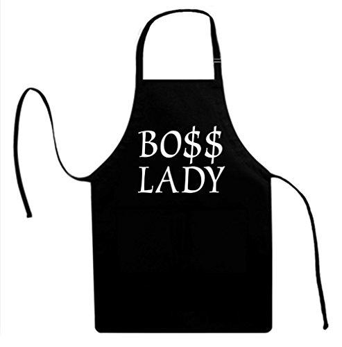 Signature Depot BOSS LADY BO Funny Unisex Adult Novelty Apron for Men Women