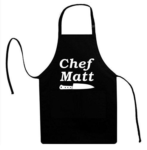 Signature Depot Chef Matt with Knife Food Cook Unisex Adult Novelty Apron