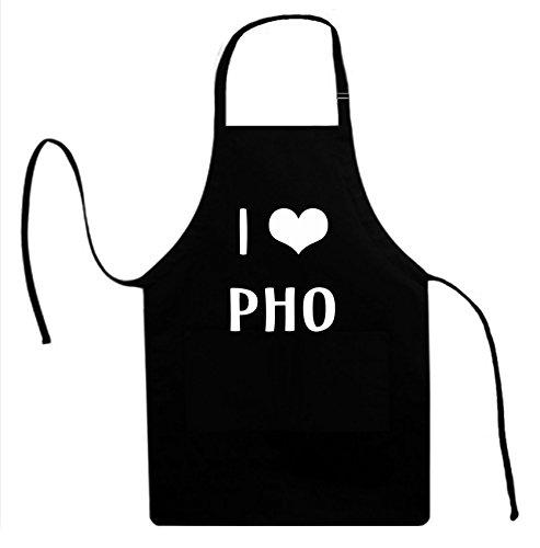 Signature Depot I LOVE HEART PHO Unisex Adult Novelty Apron