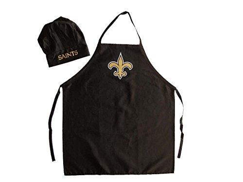 NFL New Orleans Saints Chef Hat and Apron Set Black One Size
