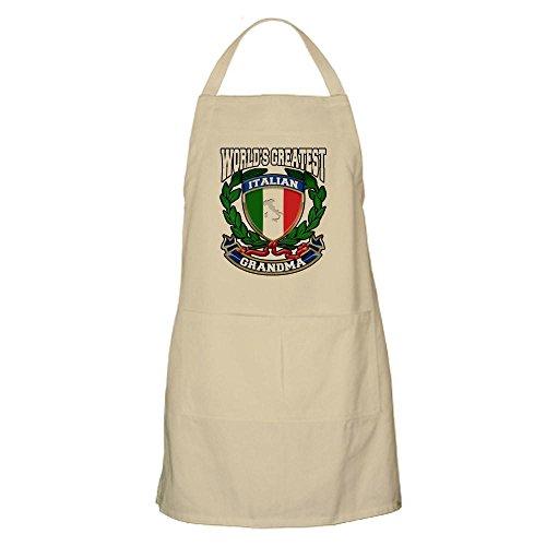 CafePress - Worlds Greatest Italian Grandma Apron - Kitchen Apron with Pockets Grilling Apron Baking Apron