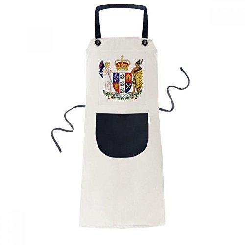 DIYthinker New Zealand Oceania National Emblem Apron Cooking Bib Black Kitchen Pocket Women Men