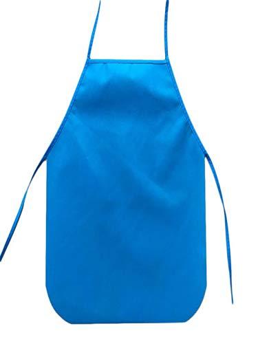 NszzJixo9 Apron - Children Waterproof Cartoon Kitchen Cooking Bib Apron Paint Eat Drink Outerwear Comfortable Cooking Kitchen Aprons Blue