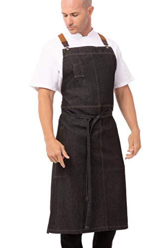 Chef Works Mens Berkeley Chefs Bib Apron Black One Size