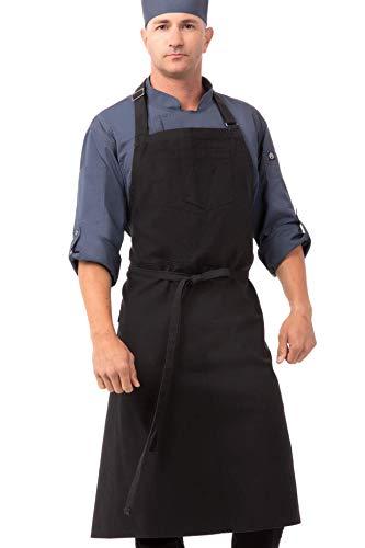 Chef Works Unisex Rockford Chefs Bib Apron Steel Gray 0