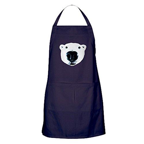 CafePress Polar Bear Sniff Apron Dark Kitchen Apron with Pockets Grilling Apron Baking Apron
