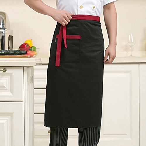 Lqchl Restaurant Chef Hotel Uniforms Custom Body Apron Body Half Black Kitchen Apron Three Optional ColorsBlack