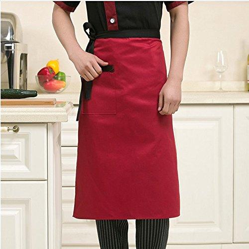 Lqchl Restaurant Chef Hotel Uniforms Custom Body Apron Body Half Black Kitchen Apron Three Optional ColorsRed
