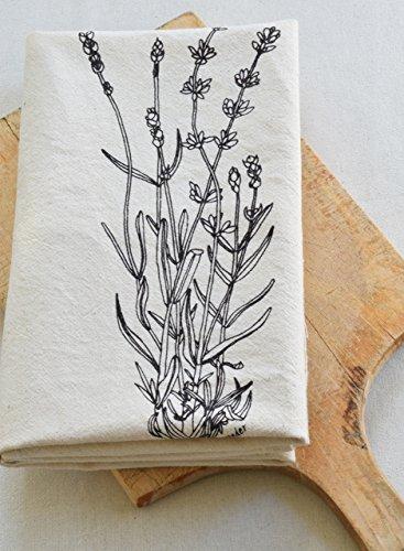 Lavender Flour Sack Towel in Deep Violet - Tea Towel - Kitchen Towel - Cotton Dishcloth