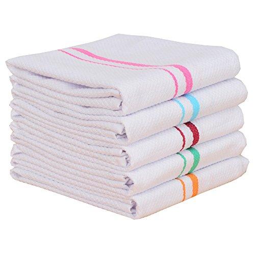 Classic Kitchen Towels100 Cotton Tea Towels Best Dish Cloths Vintage Color Stripe Design5 Pack In Size 40x60cm