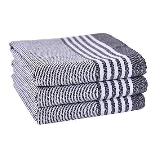 Classic Kitchen Towels100 Cotton Tea Towels Best Dish Cloths Vintage Design3 Pack In Large Size 50x70cm
