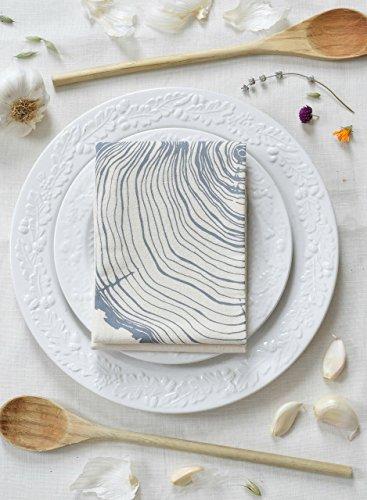 Tree Ring Flour Sack Towel in Grey - Tea Towel - Kitchen Towels - Cotton Dishcloth - Woodland Kitchen Decor