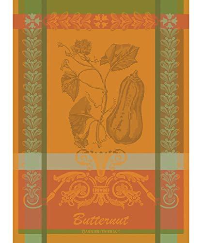 Garnier-Thiebaut Butternut Orange French Jacquard KitchenTea Towel 100 Cotton 22 x 30