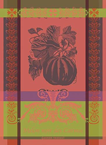 Garnier-Thiebaut Melon Noir French Jacquard KitchenTea Towel 100 Percent Cotton