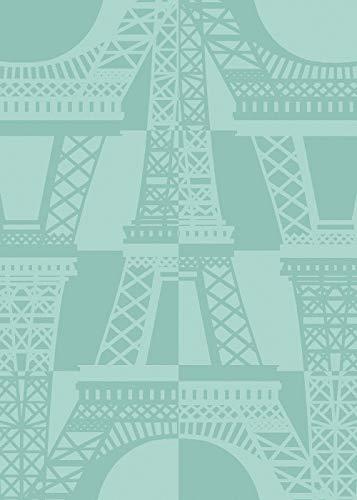 Garnier-Thiebaut Paris Emblématique Celadon French Jacquard KitchenTea Towel 100 Percent Cotton
