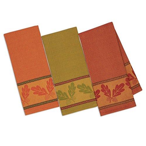 Autumn Acorn Jacquard Dish Towels Bundle of 3