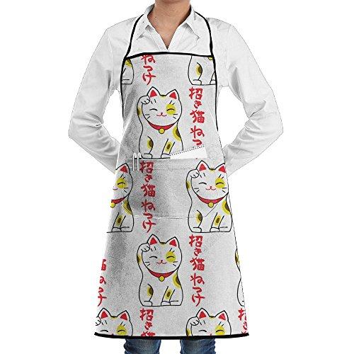 Wyfcxc Fortune Cat Designer Chef Aprons Kitchenrn Shop Aprons Sewing Pocket