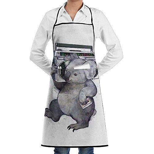 Wyfcxc Koala Animal Designer Chef Aprons Kitchenrn Studio Aprons Sewing Pocket